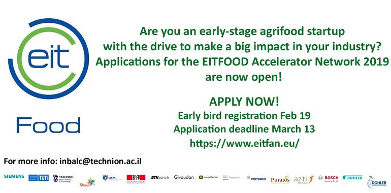Applications open for EIT FAN 2019!   Technion - Israel