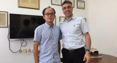 פרופ׳ חוסאם חאיק (מימין) וד״ר מין דזאנג
