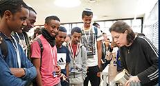 """כ-200 תלמידים מצטיינים בני הקהילה האתיופית ביקרו בטכניון במסגרת אירוע """"מצוינים"""", שהתקיים בשיתוף עמותת מנהיגי העתיד ו-ENP - הפרויקט הלאומי לקהילה האתיופית בישראל"""