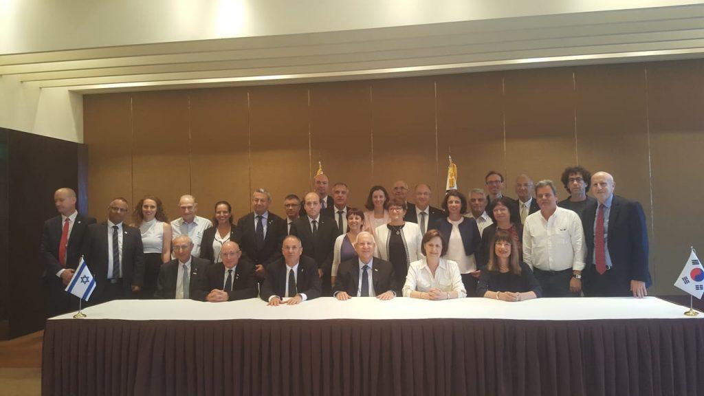 המשלחת האקדמית הישראלית שליוותה את נשיא המדינה בביקורו הרשמי בדרום קוריאה