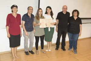 הסטודנטיות אורה-לי אבוחצירא ונטלי כהן שזכו במקום השלישי