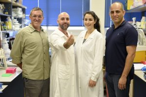 The research group. From right to left: Prof. Roee Amit, Inbal Vaknin, Leon Anavy, and Prof. Zohar Yakhini