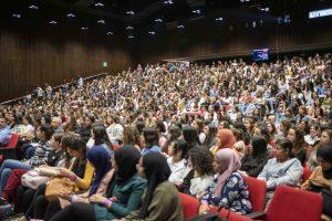 הקהל באירוע הפתיחה.