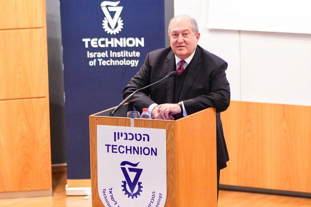 הנשיא הארמני בהרצאתו בטכניון