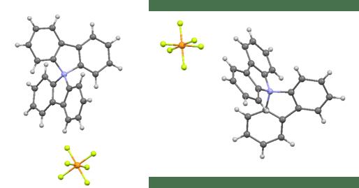"""מבנה גבישי של מולקולת """"דיאריל קרבזוליום"""""""
