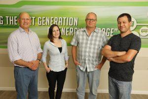 From left to right: Dr. Avigail Landman, Prof. Gideon Grader, Prof. Avner Rothschild and Dr. Hen Dotan