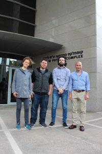 קבוצת המחקר (מימין לשמאל): ג'ף סטיינהאור, חואן רמון מונז דה נובה, ויקטור ל. קולובוב וקטרינה גולובקוב. *התמונה צולמה לפני מגפת הקורונה.