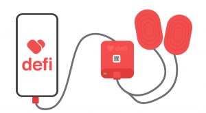 Defi – דפיברילטור נייד הנטען ממכשיר הטלפון הנייד