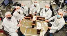 Engineers & researchers from the Asher Space Research Institute at Technion-Israel Institute of Technology with the nanosatellites