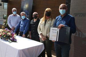 פרופ' יואב ערבה מהפקולטה לביולוגיה, זוכה פרס מצטיין בטיחות טכניוני.