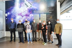 """The """"Adelis-SAMSON"""" project's team with Prof. Pini Gurfil of the Faculty of Aerospace Engineering (first from left)"""