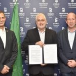 (L-R) Shaul Shashua, a member of the Friends of the Technion in Brazil, Technion President Prof. Uri Sivan and Technion Vice President for External Relations and Resource Development Prof. Alon Wolf