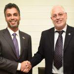 UAE Ambassador, H.E Mohamed Al Khaja (left) with Technion President Prof. Uri Sivan