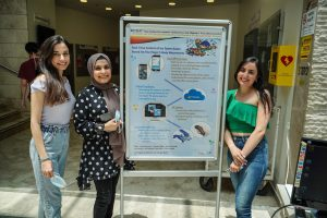 Icy Tower team. (L-R) Suad Mansour, Aseel Khateeb and Sereen Diab