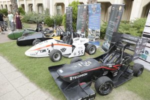 The Formula cars from the Technion - Israel Institute of Technology, Tel Aviv University, and Ben-Gurion University of the Negev