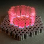 בוורוד: אלומת אור קוהרנטית אחת המיוצרת על ידי מערך של 30 מקורות לייזר נפרדים. קרדיט SimplySci Animations